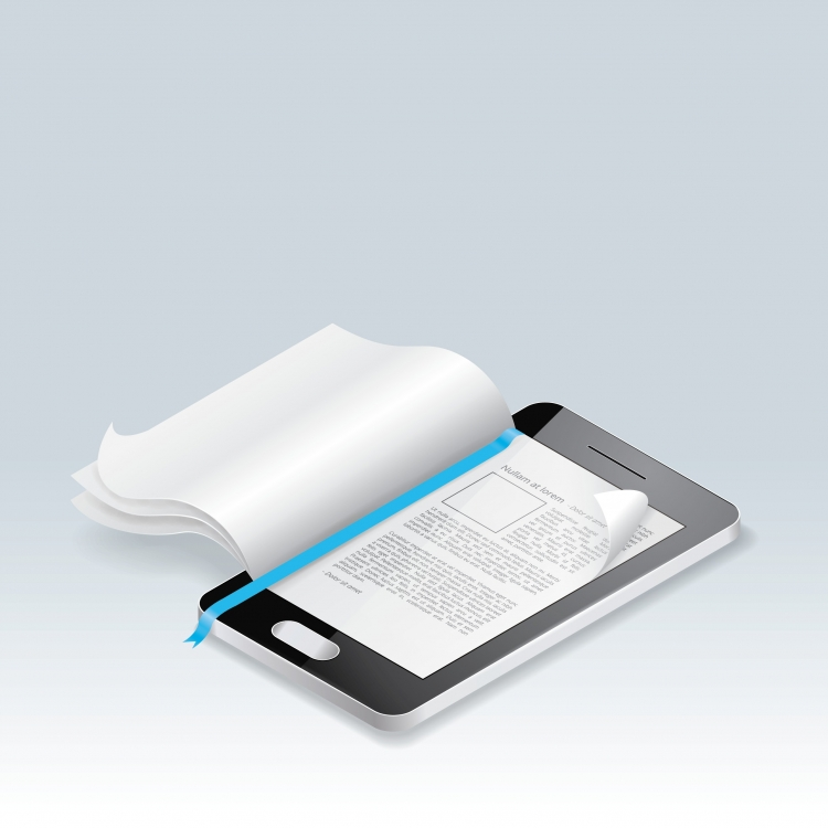 Fusion between an eBook and a traditional book