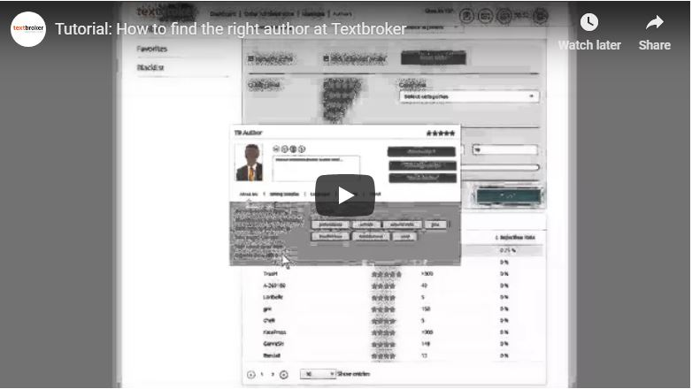 How to find the right author at Textbroker