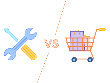 building a niche website yourself vs. buying