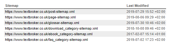 XML sitemap of textbroker.co.uk